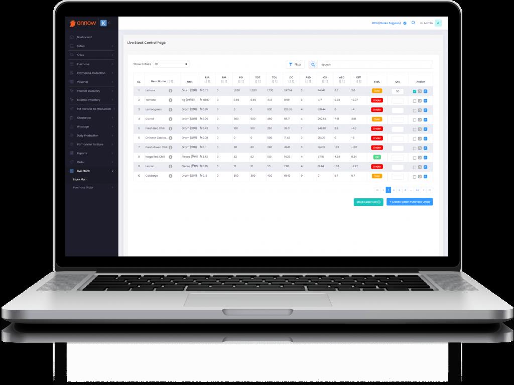 Onnow - Live Stock Control